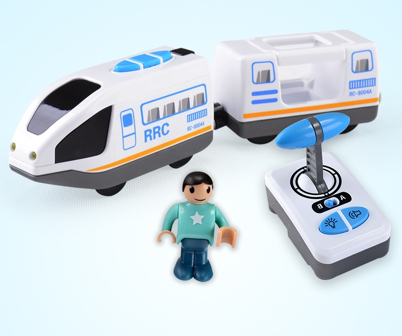 FIT Thomas wooden track Brio track RRC EXPRESS TRUCK RRC EMU combination remote control electric locomotive compatible magnetic