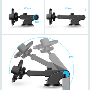 Image 4 - RAXFLY Car Phone Holder Windshield Mount For Samsung S9 Plus S8 S7 360 Rotation Phone Car Holder in Car For iPhone Huawei Stand