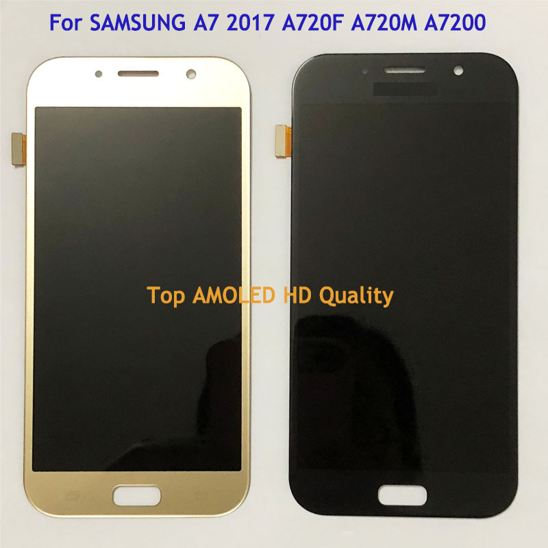 5 7 HD LCD Display Screen For SAMSUNG A7 2017 A720 A720F SM A720F LCD Touch