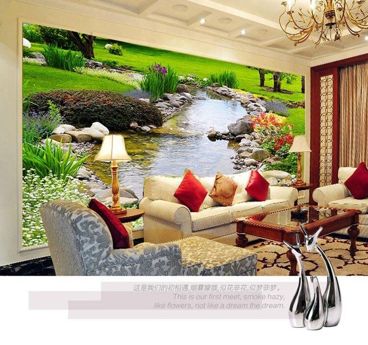 Photo Wallpaper Nature Park Creek Murals Bedroom Living Room Sofa TV Background Wall Paper Home Decoration