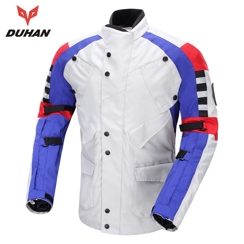DUHAN Windproof Motorcycle Off-road Racing Protective Jacket Motorcycle Anti Fall Riding Jacket Motor Body Protector Jacket 2015 new duhan dk 018 moto pants motorcycle jeans off road motorcycle riding pant drop resistance external protective gear