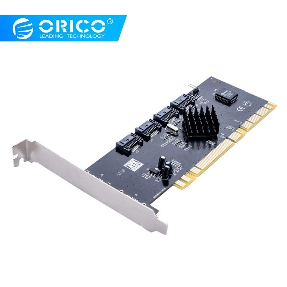 Carte dextension ORICO 4 ports SATA2.0 PCI-E 3 Gbps de vitesse pour Win 7 8 10 Vista Linux Mac OSCarte dextension ORICO 4 ports SATA2.0 PCI-E 3 Gbps de vitesse pour Win 7 8 10 Vista Linux Mac OS