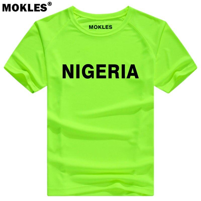 NIGERIA maglietta fai da te spedizione custom made nome numero nga t-shirt nazione bandiera ng repubblica federale nigeriano collegio testo foto vestiti