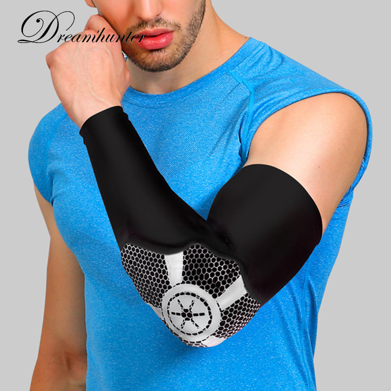 1pcs Basketball arm sleeve breathable lengthening elbow support wrist Elbow Pad brace protector Guards Pads outdoors Compression