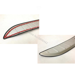 Image 2 - For Mazda CX 3 CX3 2017 2018 2019 2020 Car Stainless Steel Outside Rear Back Pedal Bumper Trim Plate Trunk Frame Threshold Trim