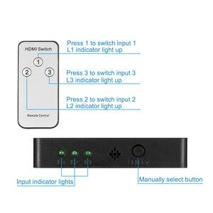 Image 4 - 3x1 HDMI Splitter 3 Port Hub Box Auto Schalter 3 In 1 Out Switcher 1080p HD 1,4 mit Fernbedienung für HDTV XBOX360 PS3 Projektor
