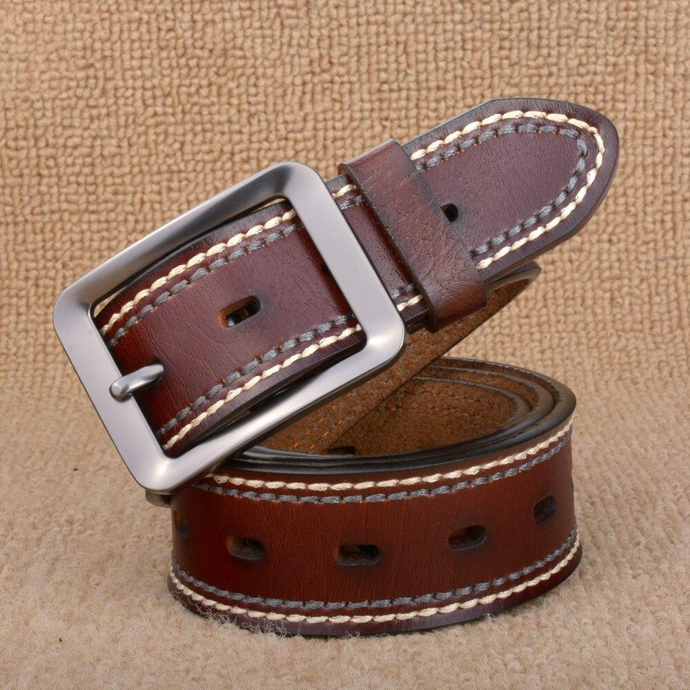 2018 New Fashion Luxury Genuine Leather belt men Vintage Cow Skin Belts Women Designer Top Quality Strap Female for Jeans C209