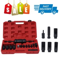 14pcs/set Injector Puller Extractor Kit Engine Service Tool Fuel Injector Puller Diesel Common Rail for Bosch/Delphi/Siemens