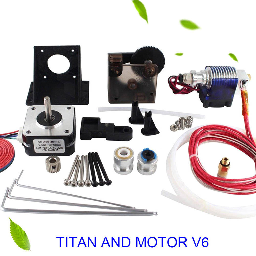 1 Set Titan Extruder+Stepper Motor+Volcano Hotend Spare for 1.75 3D Printer Part 8 SL@88