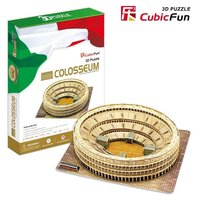 Special authentic cubicfun 3D puzzle paper model MC055h Ancient Italy Rome Colosseum hardcover edition toy