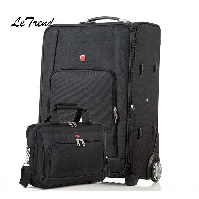Letrend Оксфорд сумки на колёсиках комплект колёсики чемоданы колеса для мужчин универсальный тележка дорожная сумка бизнес сумка для ноутбук...