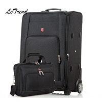 Letrend Оксфорд сумки на колёсиках комплект колёсики чемоданы колеса для мужчин универсальный тележка дорожная сумка бизнес сумка для ноутбук