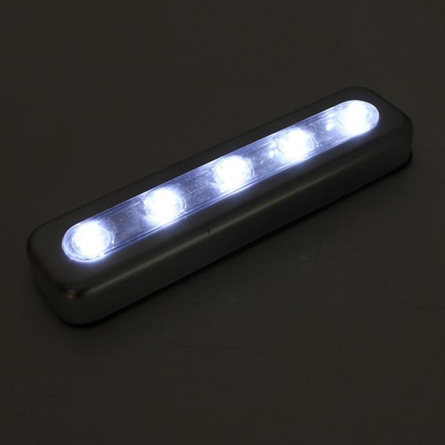 nieuwe heldere 5 led lampen push lichten stok op batterij keuken schuur lofts camping led