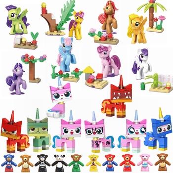 Legoing Friends figurki Limited słodki kociak koń niedźwiedź zestawy do budowania zabawek dla dzieci przyjaciele montaż zabawek prezenty dla dzieci tanie i dobre opinie Z tworzywa sztucznego Princess Figures 1 200 Film i telewizja Can t eat Cartoon Figures Unisex Model Building Kits Friends Figures