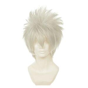 Image 3 - Костюм для косплея хатакэ Какаси из аниме Наруто, одежда + перчатки + повязка на голову + парик + сапоги + сумки + оружие + маска, Индивидуальный размер