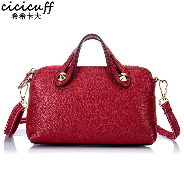 Cicicuff Women Genuine Leather Small Hand Bag Las Cowhide Simple All Match Female Shoulder