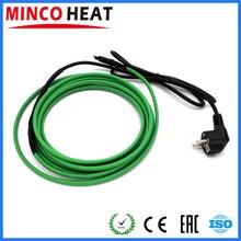 Kit de cables de calefacción autorregulables con enchufe europeo preensamblado, tubería de agua de 1 a 10 metros, calefacción, fusión de nieve
