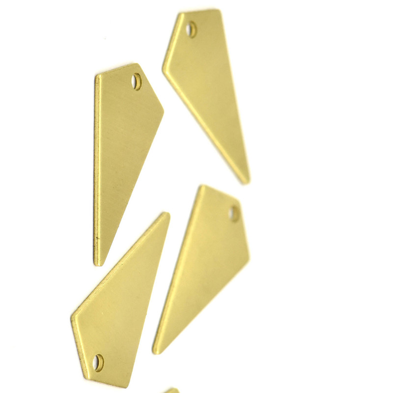 ...  Raw Brass Triangle Charms (2 holes) sz (22x12x0.60mm) D346--3choose