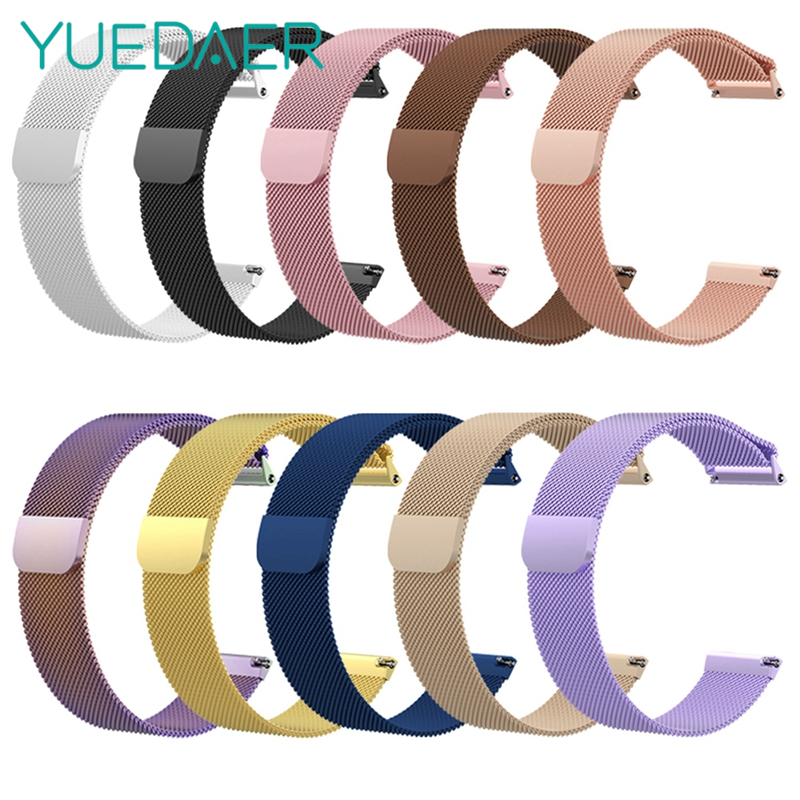 YUEDAER Rose Gold Metal Watch Band For Fitbit Versa Replacement Magnetic Milanese Loop Steel Strap Smartwatch Accessories Women YUEDAER Rose Gold Metal Watch Band For Fitbit Versa Replacement Magnetic Milanese Loop Steel Strap Smartwatch Accessories Women