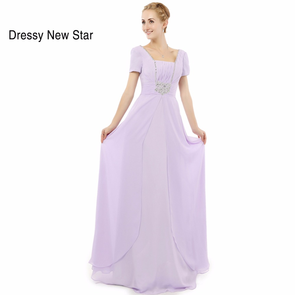 abendkleider 2017 top sale a line formal evening dress beaded chiffon lilac prom dresses 2017 real sample wedding party dress