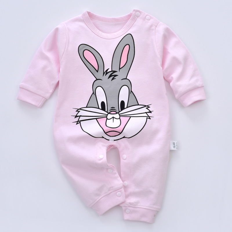2018 newborn Baby   Rompers   cotton Baby Girl Clothes Cartoon Baby Boy Clothing Long sleeve Baby Clothes Infant Jumpsuits