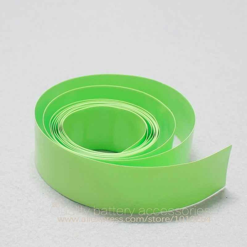 5 M filme de PVC termoencolhível filme membrana bateria 18650 bateria de lítio da bateria pele exterior azul cor roxa transparente roxo