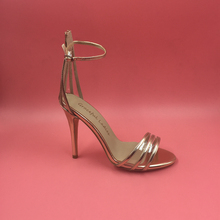 2016 alias Mujer Sandale Femme Rose Gold Schnalle PVC Zurück Sommer Damen Schuhe Plus Größe Echt Bild Alias Mujer