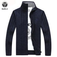 RUELK, мужской свитер, осень, зима, шерсть, толстый, мужской кардиган,, модная брендовая одежда, верхняя одежда, Вязанный свитер, Hombre M
