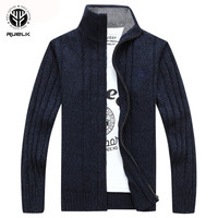 RUELK 2018 Sweater Men Autumn Winter Wool Thick Male Cardigan 2018 Fashion Brand Clothing Outwear Knitting Sweter Hombre M