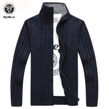 RUELK 2020 kazak erkekler sonbahar kış yün kalın erkek hırka 2018 moda marka giyim dış giyim örgü Sweter Hombre M-