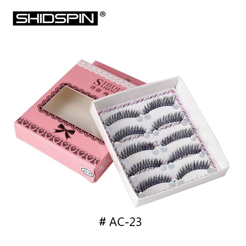 5 pairs false eyelashes makeup eye lashes extension handmade cross blue black colorful long soft - Coloration Cil