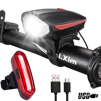 Wind Talk 250 Lumens Bicycle Light Set Rechargeable Headlight Usb LED Bike Tail Light  Bicycle Accessories Light