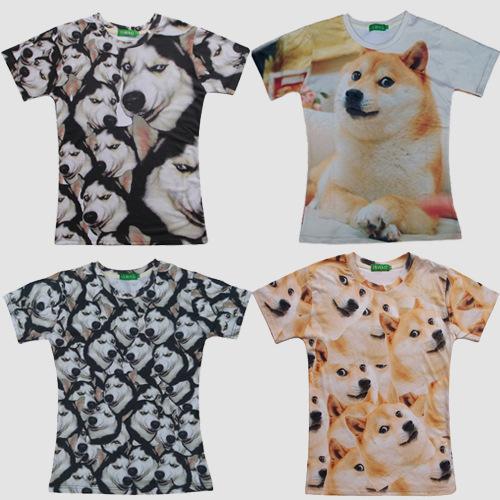 Verão camiseta casual manga curta camiseta 3d animal rouca Akita dog impresso t-shirt ganhos de roupas