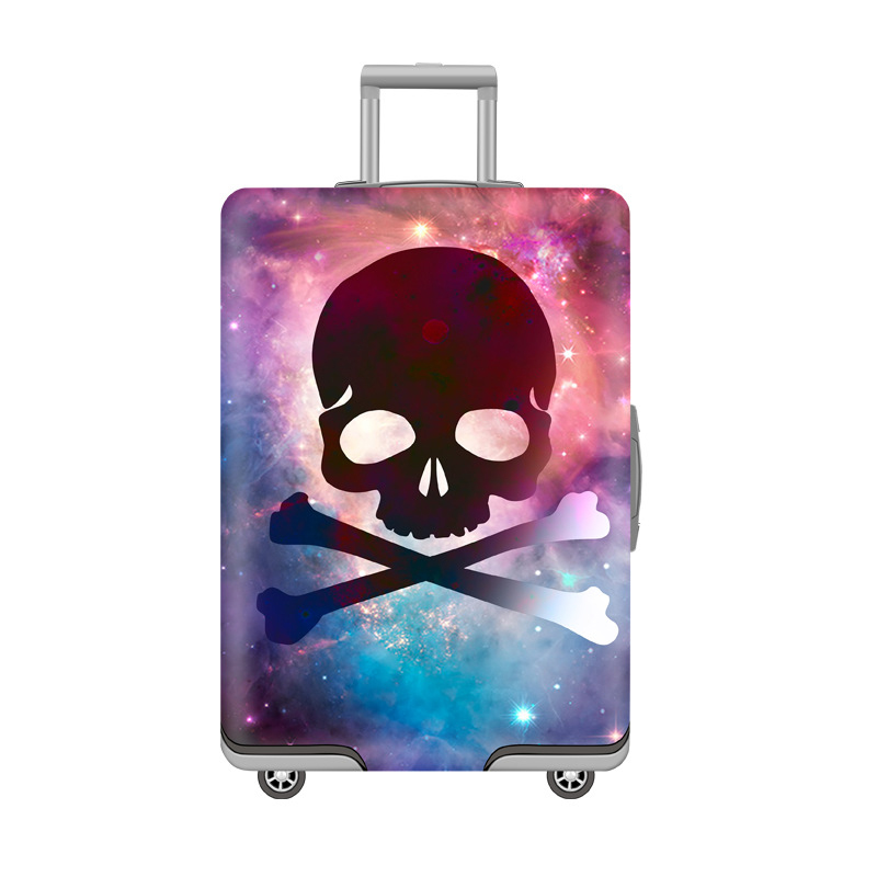 Galaxy Elastic Suitcase Protective Cover Sky Skull Pattern Print Trolley Luggage Baggage Travel Bag Suit Case
