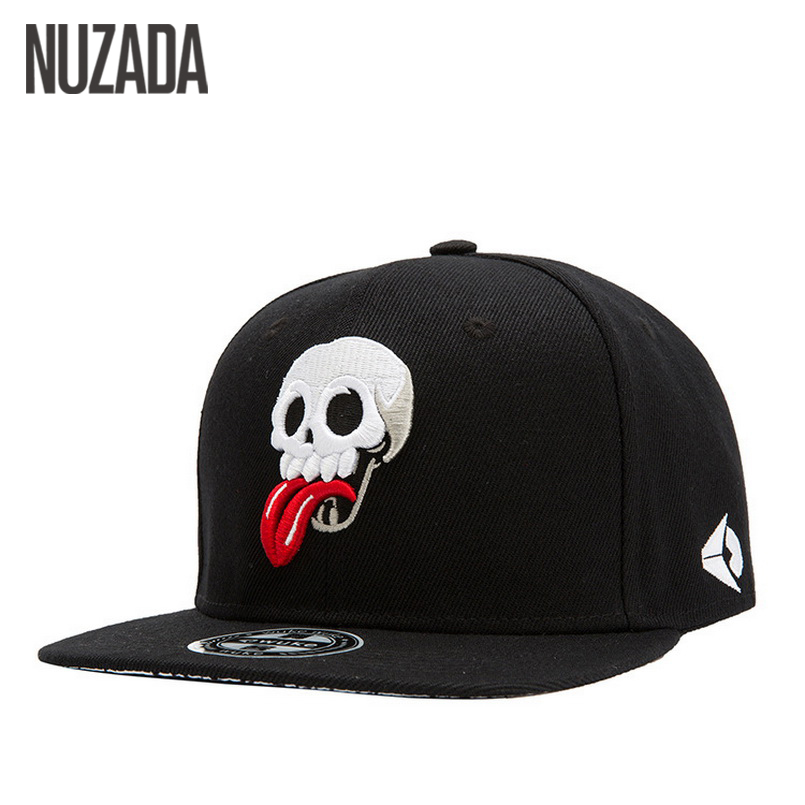 Brands NUZADA Men Women Baseball Cap Caps Snapback bone Hat Hats Hip Hop Skull Punk Fashion Embroidery cotton jt-105 new 2017 hats for women mix color cotton unisex men winter women fashion hip hop knitted warm hat female beanies cap6a03