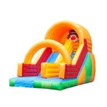 Дизайнер Крытый надувной дом прыжков с гигантскими слайд-прыжки