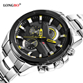 LONGBO Military Men Stainless Steel Band Sports Watches Dynamic Dial Clock For Men Male Leisure Watch Relogio Masculino 80242