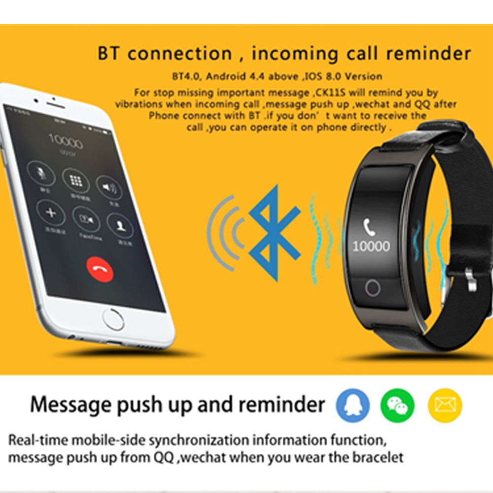 2018 Men Intelligent Bracelet Fitness Tracker Pedometer