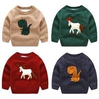Baby Cartoon Sweater 2019 Autumn Winter Suit New Boy Boy Clothes Children Plus Pile Up Jacket