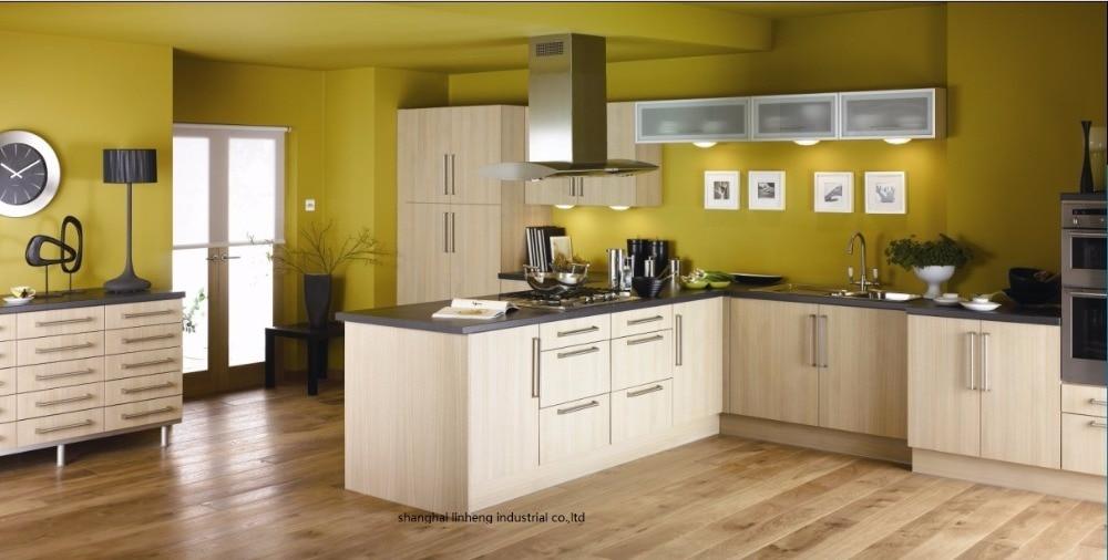 Melamine/mfc kitchen cabinets(LH-ME031)