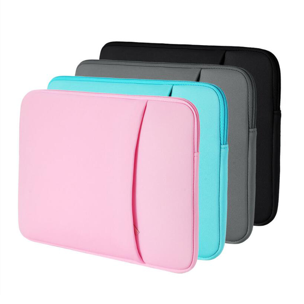 5 Color Laptop Protective Sleeve Case Zipper Bags For Macbook AIR PRO 11 12 13 14 15 13.3 15.4 15.6 Inch Notebook Touch Bar Bag