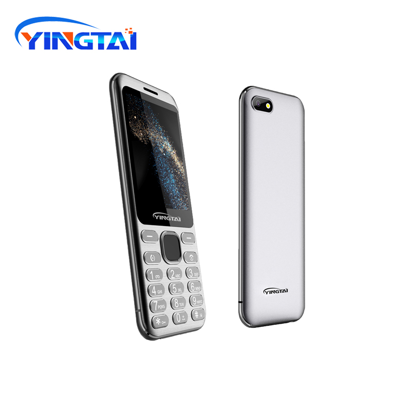 High Quality Slim DualSIM 2G Bluetooth MP4 FM Torch 2.8inch Curved Screen Metal Body Button Feature Celular Mobile Classic Phone