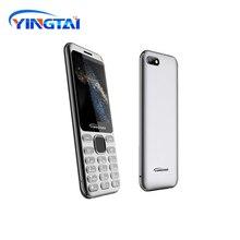 Hoge Kwaliteit Slanke Dualsim 2G Bluetooth MP4 Fm Torch 2.8 Inch Gebogen Scherm Metalen Body Button Functie Celular Mobiele klassieke Telefoon