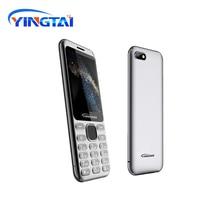 באיכות גבוהה Slim DualSIM 2G Bluetooth MP4 FM לפיד 2.8 אינץ מעוקל מסך מתכת גוף כפתור תכונה celular נייד קלאסי טלפון