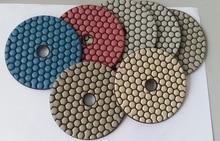 5/125mm Best quality Diamond dry very Flexible polishing pads for marble granite concrete 7PCS