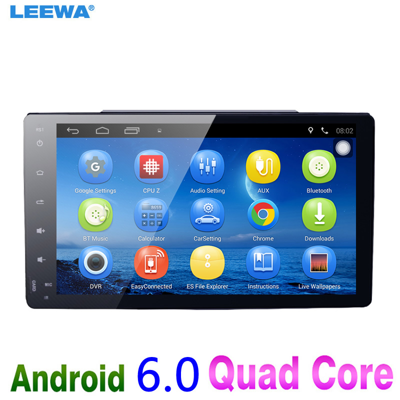 LEEWA 9 Android 6.0 Car GPS Bluetooth Navi Radio USB Media Player For Toyota Corolla/Harrier /Fortuner/Estima/Innova/Prius