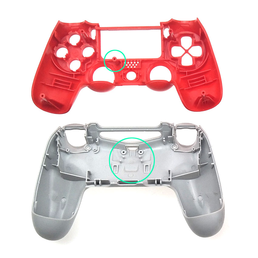YuXi Clear Full Housing Controller Shell Case Cover Mod Kit buttons For  Dualshock 4 PS4 Old version JDM-001 Replacement Parts