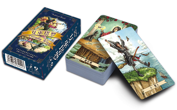 Magic Tarot Cards Factory Made High Quality Everyday Witch Blake Tarot Card With Colorful Box, Cards Game, Board Game