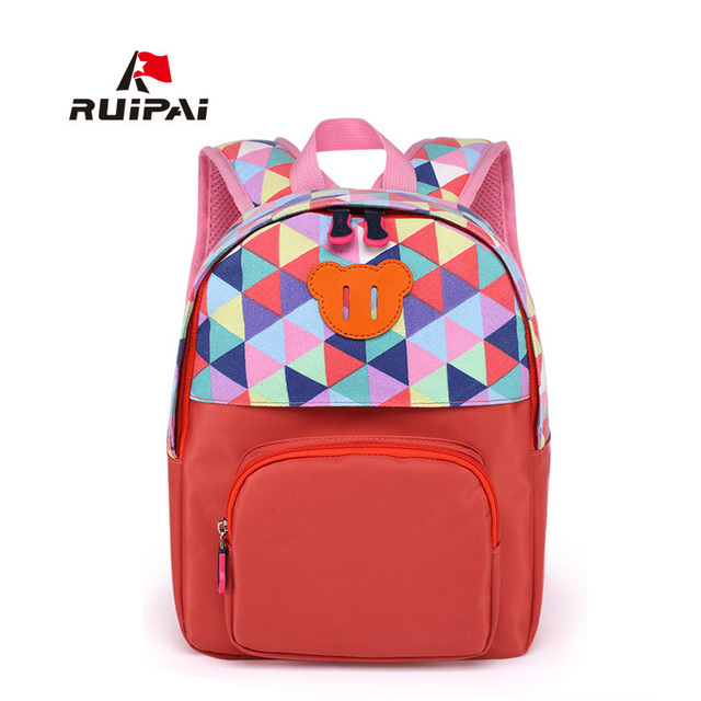 bdf873e83ee RUIPAI Lovely Kids School Backpack Schoolbag Satchel Comfortable Backpack  For Kindergarten Polyester School Bag For Girls