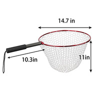 2PCS Folding Aluminium Alloy Hoop And Collapsible Fishing Handle Portable Fishing Net For Angling And Fly